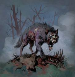 Zombie Wolf by Eedenartwork