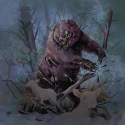 Zombie Bear by Eedenartwork