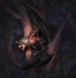 Undead Bat by Eedenartwork