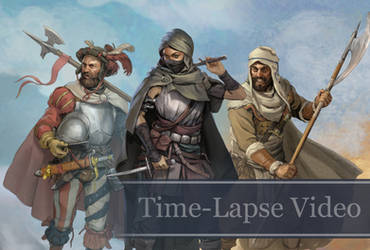 Time-lapse Character Sketches Week 3 (with Audio) by Eedenartwork