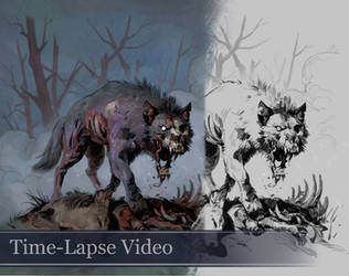 Time-lapse Wolf Sketches Week 4 (with Audio) by Eedenartwork