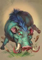Elephant Boar by Eedenartwork