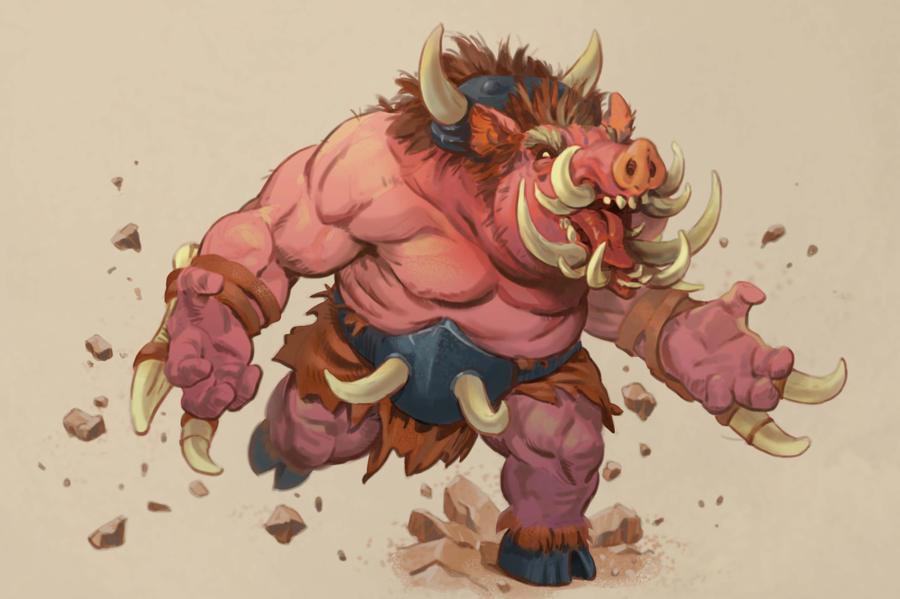 Many-Tusked Boar by Eedenartwork