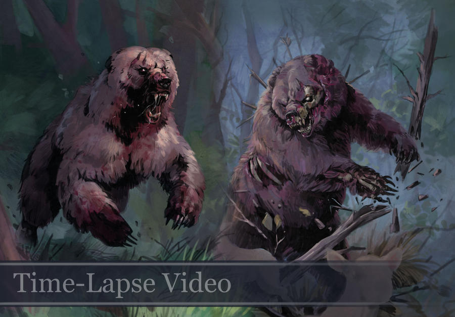 Time-lapse Bear Sketches Week 5 (with Audio) by Eedenartwork