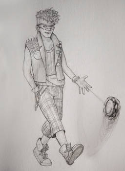 Trickster in pencil