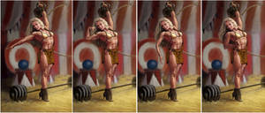 Circus Strongwoman. by Feael