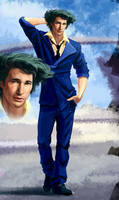 Spike Spiegel (wip) by Feael