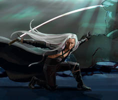 Sephiroth. Final Fantasy 7. WIP by Feael