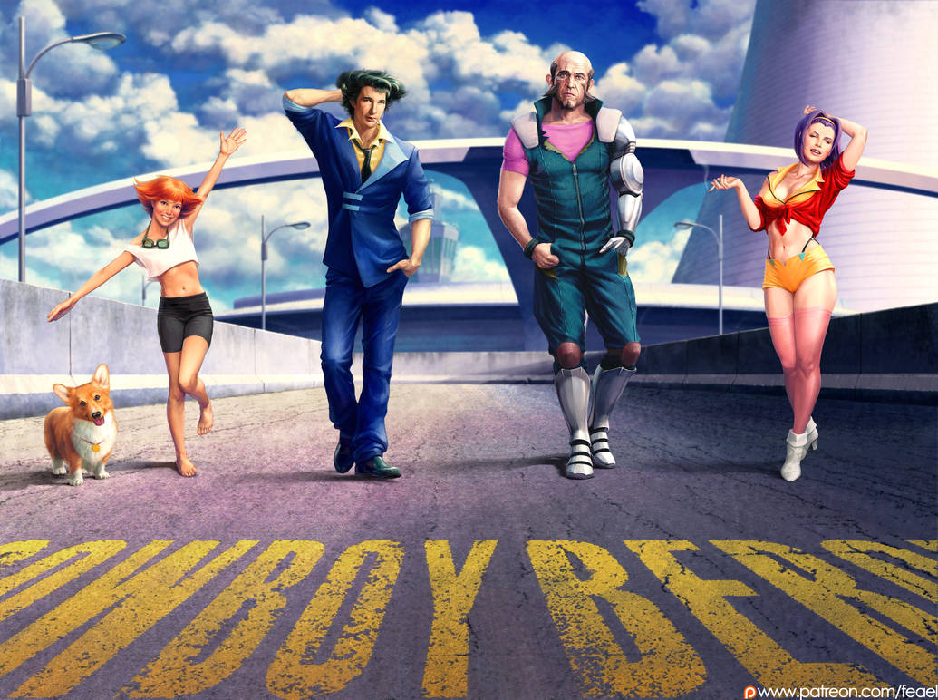 Cowboy bebop crew. All together by Feael