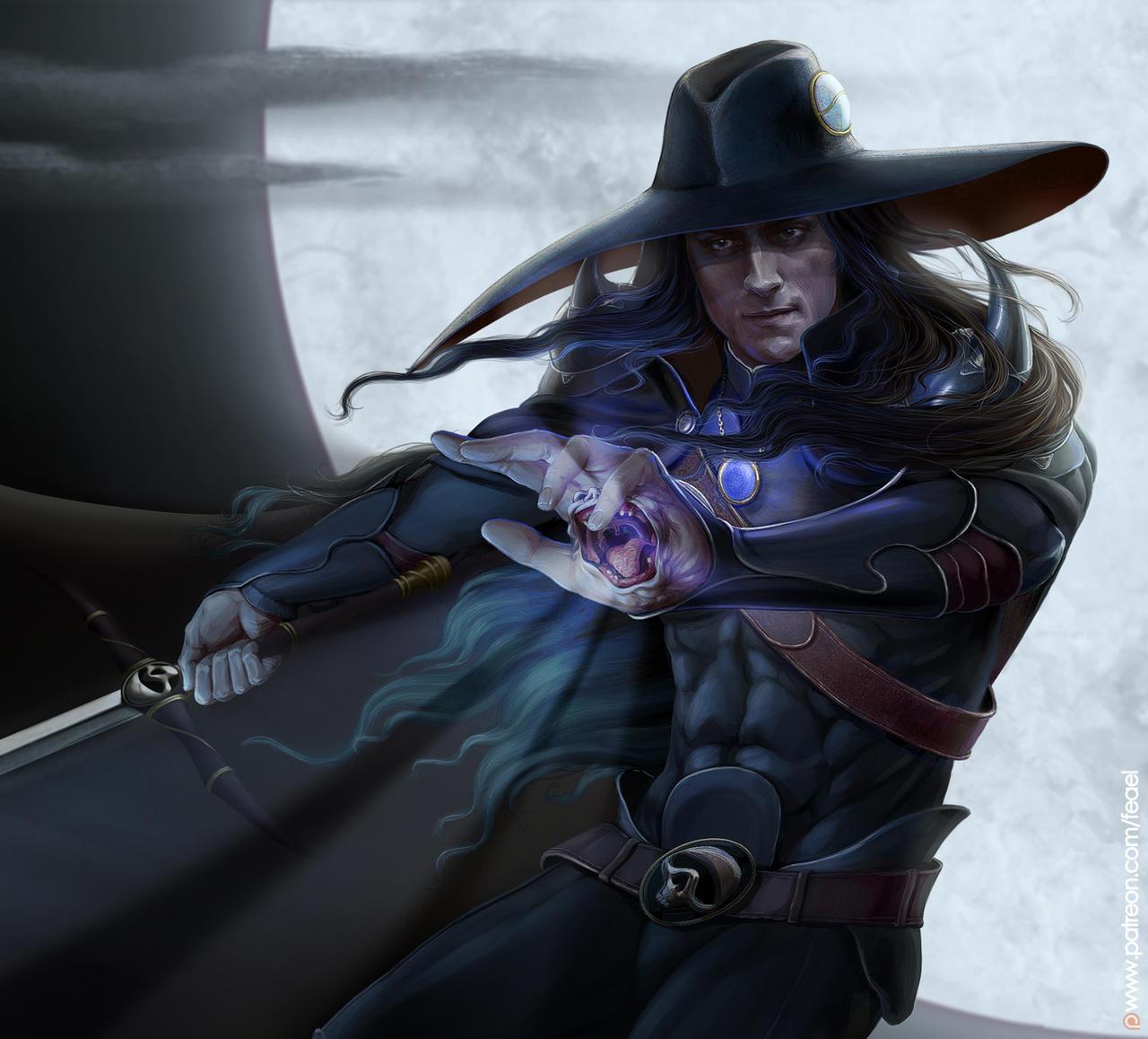 Vampire hunter D. Portrait by Feael