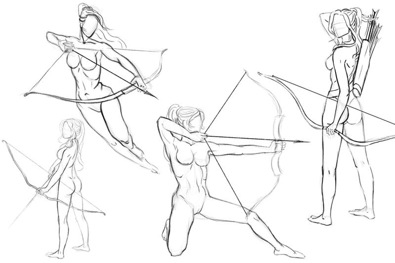 Archers. Study by Feael