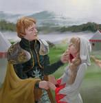 Zalbaag flirting with white mage girl