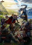 Wrathborn cover art. The Battle for Blue Seal Bay