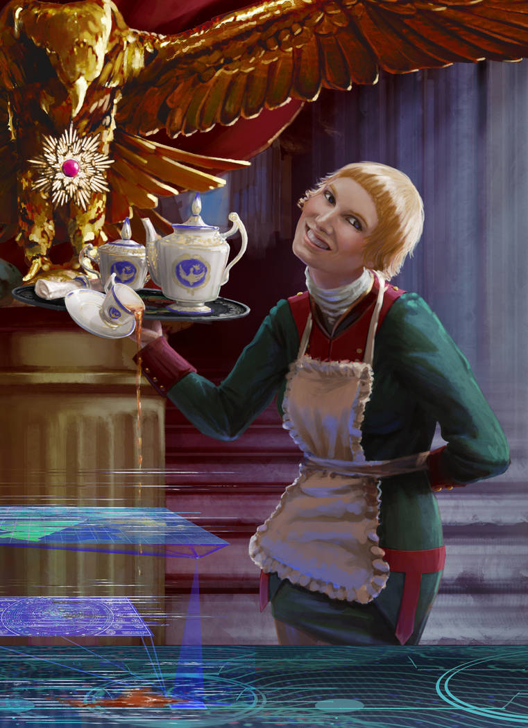 Spilled tea by Feael