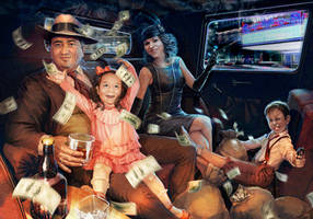 Gangster family by Feael
