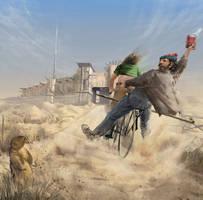 Bike for it, lil brat! by Feael