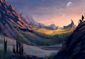 Caden foothills by Feael