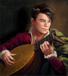 Tiefling bard by Feael