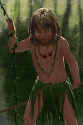 Little savage (Threads of Fate game art)