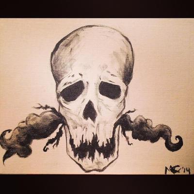 Acrylic skull by spirithorse206