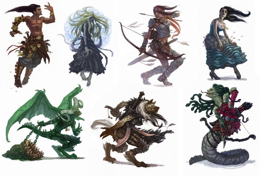 paizo characters by RyanPortillo