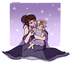 Xylaris and Leora by Papayawhipped