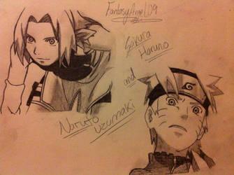 NaruSaku drawing by FantasyAngel09