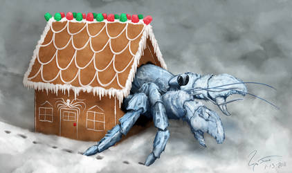 Hermit Crab in Gingerbread House