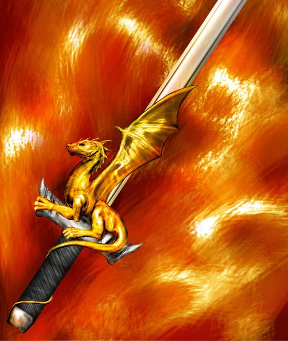 Quest Cards - Dragonhilt Sword by hwango