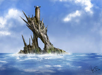 Shardcrown Island Lighthouse by hwango