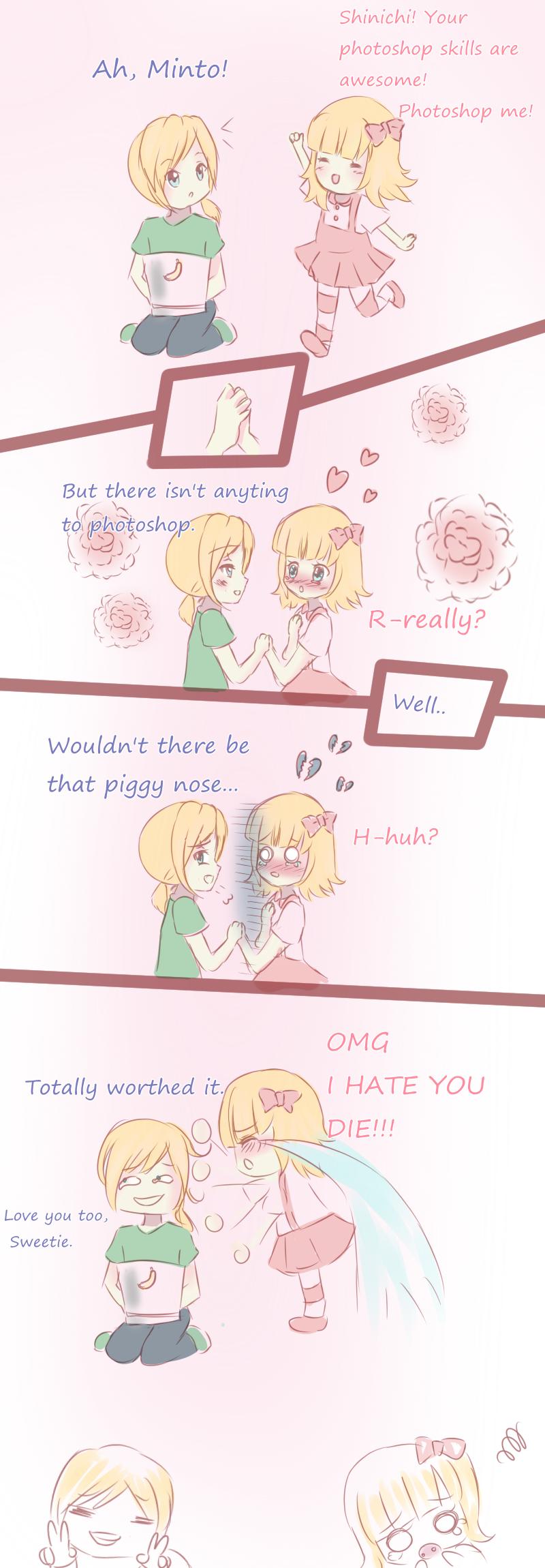 Funny Chibi Shinichi and Minto Comic by Luumies