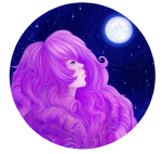 Rose Quartz at moon by FrossetHjerte