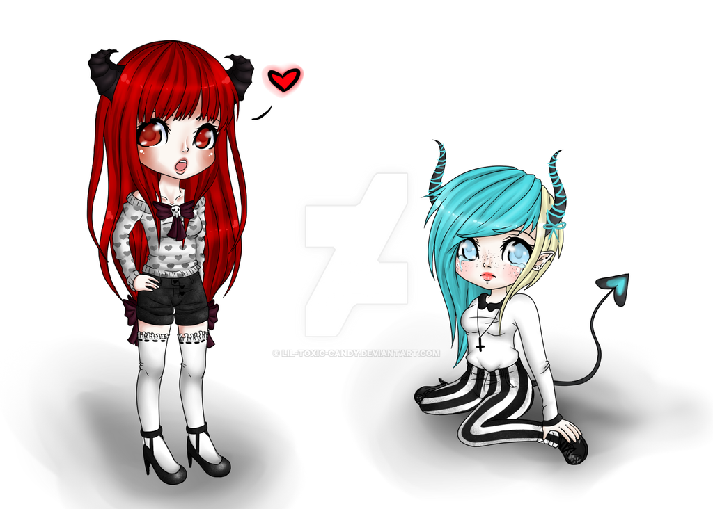 My Horns Are Cuter Than Yours by Lil-Toxic-Candy