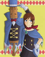 Trucy Wright and Mr Hat by xCastra