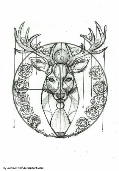 deer tattoo design by desiredwolf on deviantart. Black Bedroom Furniture Sets. Home Design Ideas
