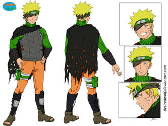 Naruto character sheet - commission (colored)