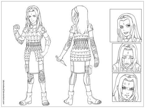 Sakura Haruno character sheet - commission
