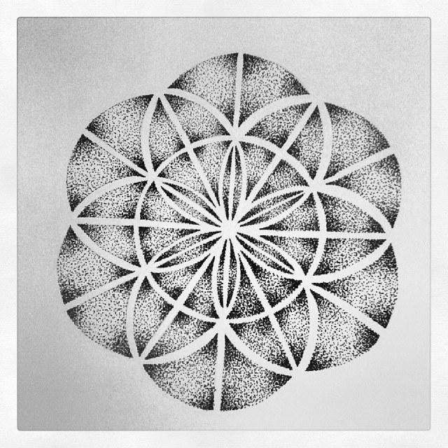 Dotwork Mandala Flower Of Life By Mjkazemier On DeviantArt