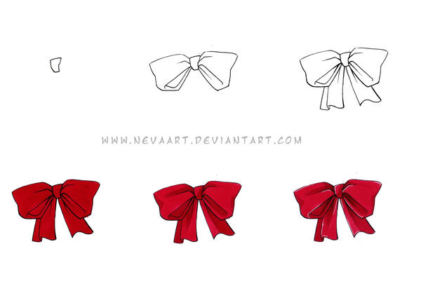 Nevas Copic bow tutorial by Nevaart on DeviantArt