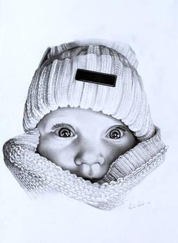 baby in knitwear