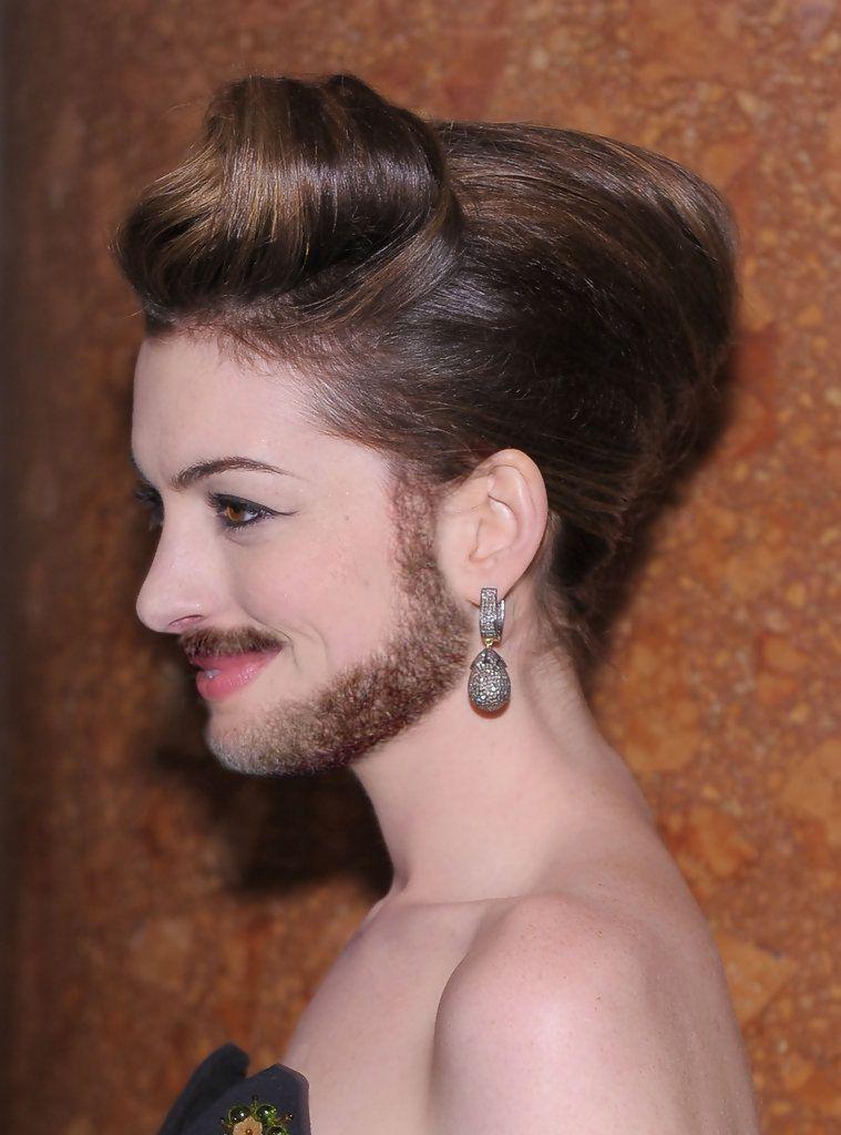 Facial hair on females