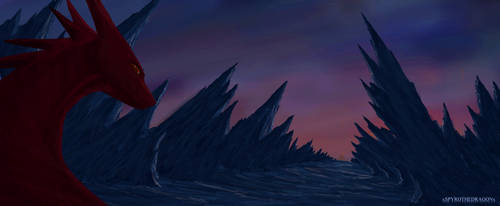 Sunset in corrupted lands by xSPYROTHEDRAGONx