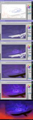 flying towards destiny process by xSPYROTHEDRAGONx