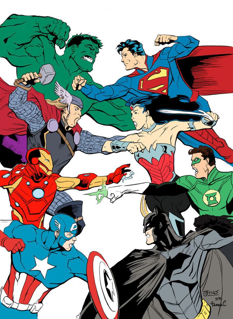JLA Vs Avengers Base Colors by Blanca-Cardenas
