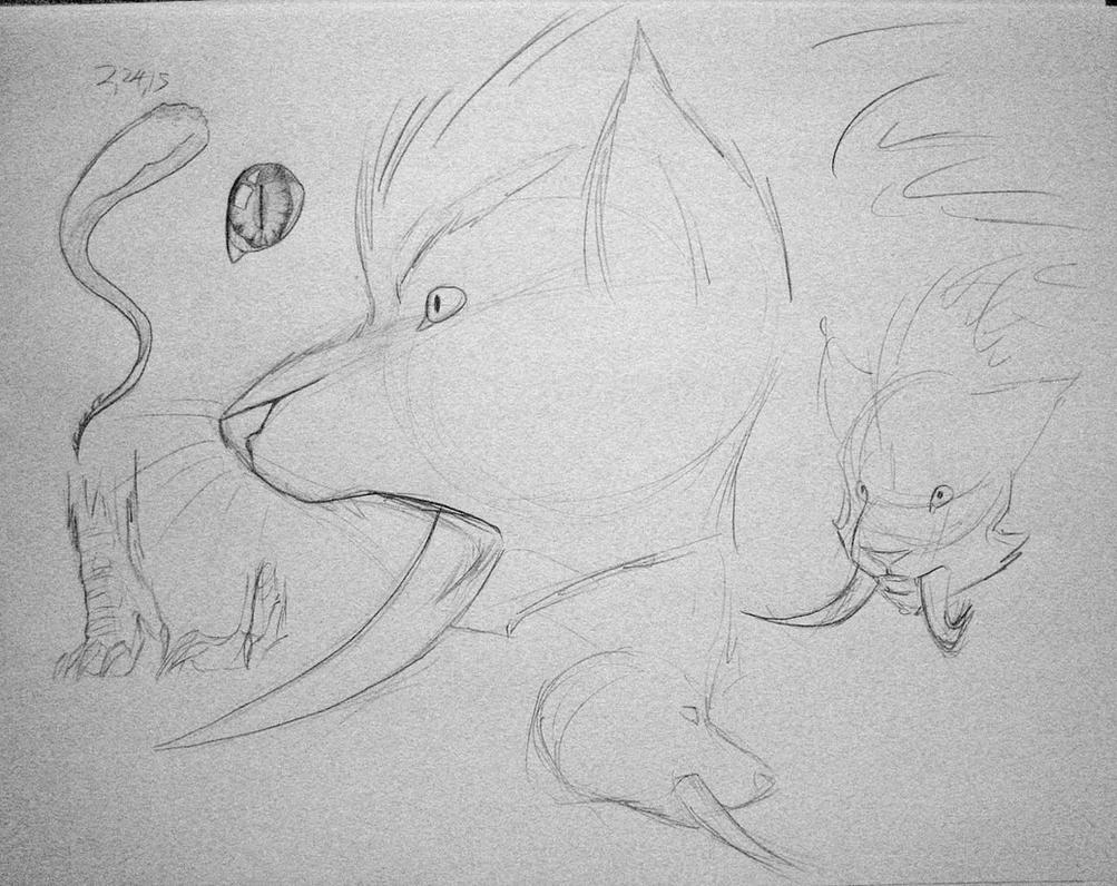 Troll Druid doodles by eaglespirit1