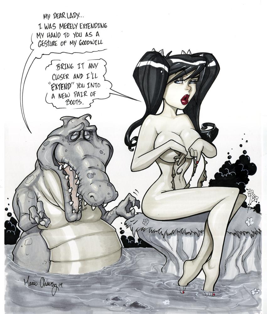 vegan cavegirl by MarioChavez