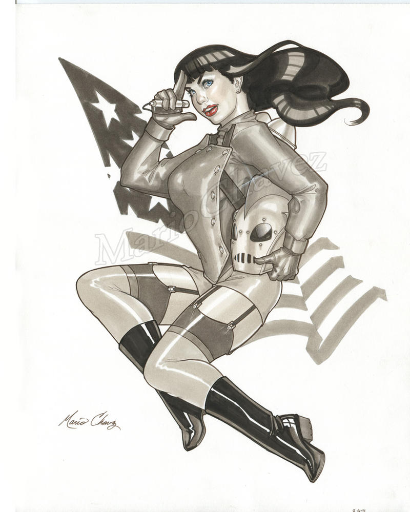 Bettie Rocketeer by MarioChavez
