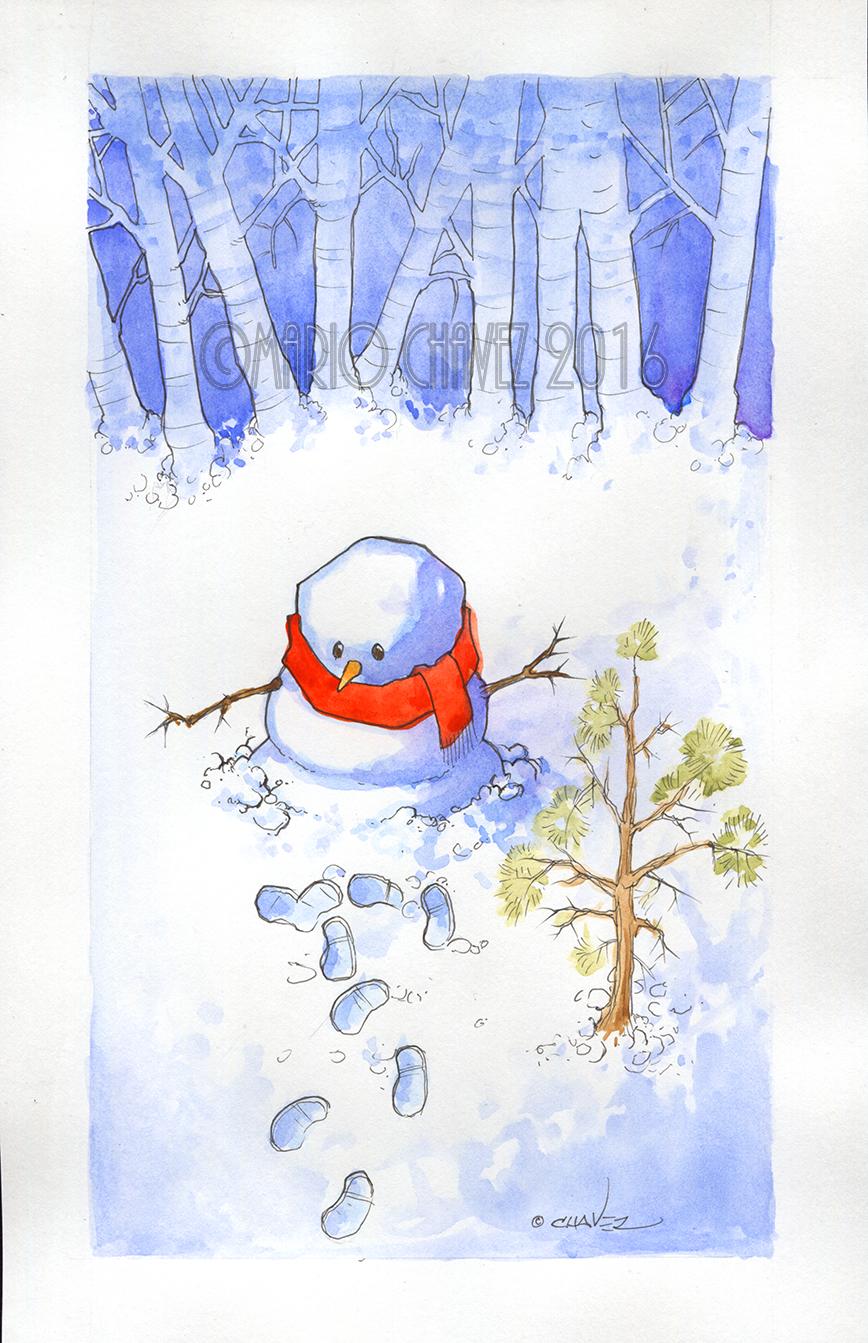 Snowman by MarioChavez