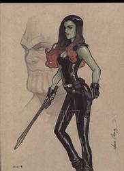 Gamora ,thanos