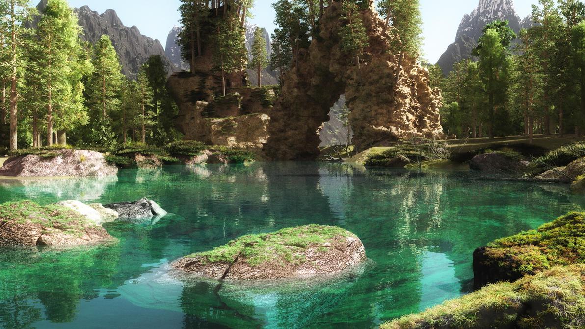 Blue Lake by tonixus